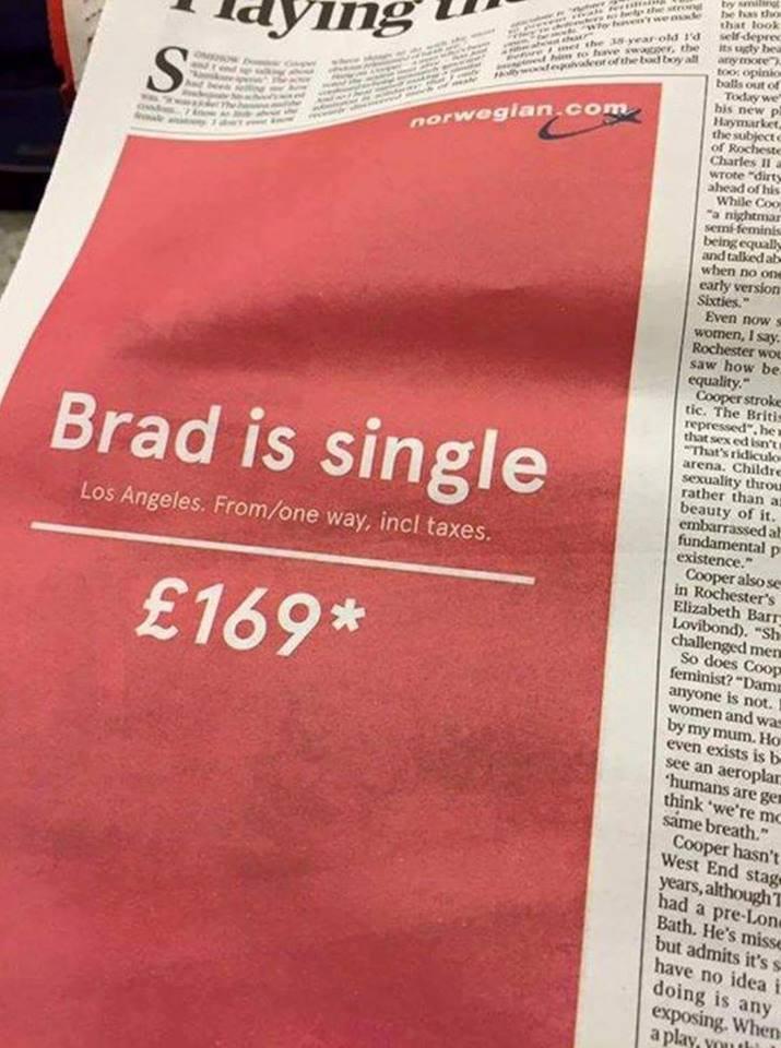 brad is single